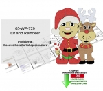 05-WP-729 - Elf and Reindeer Downloadable Woodcrafting Pattern PDF
