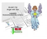 05-WP-730 - Angel with Star Downloadable Scrollsaw Woodcrafting Pattern PDF
