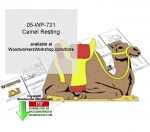 05-WP-731 - Camel Resting Downloadable Yard Art Woodcrafting Pattern PDF