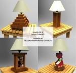 Assorted Lamps Collection Woodworking Pattern, wooden lamps,table lamps,patterns,drawings,woodworkers projects,workshop blueprints