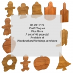 05-WP-PP6 - Craft Plaques Plus More Set of 46 Woodworking Patterns