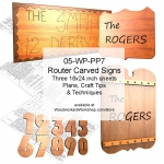 05-WP-PP7 - Router Carved Signs Woodworking Plans