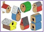 Accents in Pine Birdhouse and Shelter Pro-Pack No.24 Pattern Set