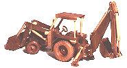 Construction Equipment - Backhoe - Loader Woodworking Plan.
