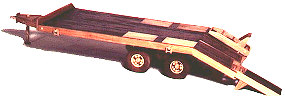 Construction Equipment - Flat Bed Trailer Woodworking Plan
