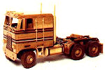 Construction Equipment - Cab Over Tractor Rig Woodworking Plan