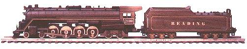Reading Line (T-1) Steam Locomotive Train Woodworking Plan