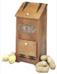 Potatoe Onion Bin Woodworking Plan., vegetable bin,indoors,furniture,kitchen,storage,Meisel,wood hobbys,hobbies,country-style,full-sized,woodworking plans,templates,projects,patterns