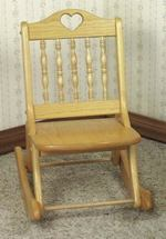 19-W1847 - Folding Rocking Chair Woodworking Plan - for 3 to 5 yr olds.