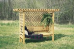 Garden Lattice Bench Woodworking Plan