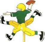 Football Player Whirligig Woodworking Plan.