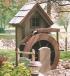Flour Mill Woodworking Plan., water mill,solid wood crafts,woodworking plans,projects,easy,beginner,patterns,full-sized,templates