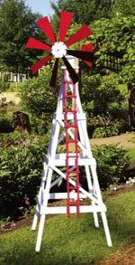 Farm Windmill Woodworking Plan.