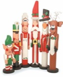 19-W2251 - Christmas Post People - Santa, Snowman and Reindeer Woodworking Plan Set.