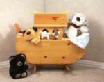 19-W2358 - Noahs Ark Cradle/Toy Box Woodworking Plan.