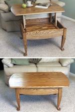 19-W2382 - Lift-up-top Coffee Table Woodworking Plan.