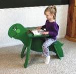 Turtle Writing Desk Woodworking Plan