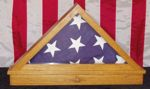 American Flag Triangle Display Box Woodworking Plan.