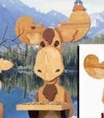19-W2540 - Moose Bird Feeder Woodworking Plan