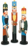 Christmas Nutcrackers Post People Woodworking Plan Set - 3 plans included.