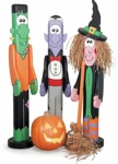 19-W2598 - Halloween Post People Woodworking Plan Set - 3 plans included.