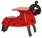 Childrens Ladybug Desk Woodworking Plan.