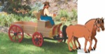 19-W2734 - Buckboard Horse Woodworking Plan