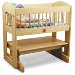 Glider Cradle Woodworking Plan., baby cradles,gliders,gliding,woodworking plans,projects,easy,beginner,patterns,full-sized,templates