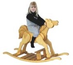 19-W2888 - Child Rocking Horse Woodworking Plan.