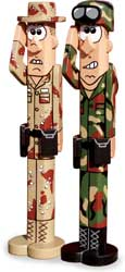 19-W2941 - Post People Military Camouflage Woodworking Plan Set - 2 plans included.