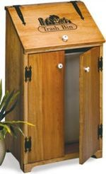 19-W2960 - Kitchen Trash Bin, Country Woodworking Plan.