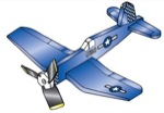 19-W2968 - Airplane Whirligig - Corsair F-4U Woodworking Plan