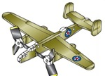 19-W2969 - Airplane Whirligig - Mitchell B-25B Woodworking Plan