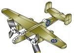 Mitchell B-25B 3 Propeller 3 Engine Airplane Whirligig Project Plan