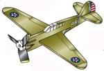Tomahawk P40-C Weathervane Whirligig Woodworking Plan
