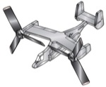 19-W2974 - Airplane Whirligig - Osprey MV-22 Woodworking Plan