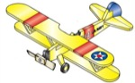 19-W2977 - Airplane Whirligig - Stearman PT-17 Woodworking Plan