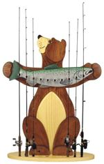 Bear Fishing Rod Holder Woodworking Plan.