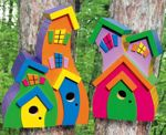 19-W3129 - Wacky Birdhouses Woodworking Plan Set - 2 patterns included.