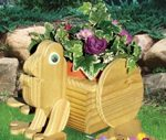 19-W3149 - Frog Flower Pot Planter Woodworking Plan