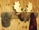 19-W3185 - Moose Head Coat Rack and Trophy Woodworking Plan - 2 plans included.