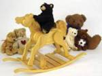 19-W3206 - Miniature Rocking Horse Woodworking Plan.