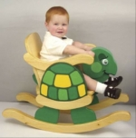 19-W3208 - Child Rocking Turtle Chair Woodworking Plan.