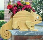 19-W3275 - Flower Pot Chameleon Woodworking Plan