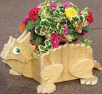 19-W3276 - Flower Pot Horned Toad Woodworking Plan