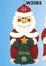19-W3285 - Santa Collector Ornament Woodworking Plan