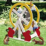Squirrel Feeder Ferris Wheel Woodworking Plan