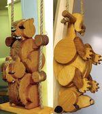Swinging Chipmunks & Possum Woodworking Plan