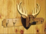 19-W3290 - Deer Coat Rack and Trophy Woodworking Plan Set- 2 plans included.