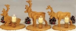 Reindeer Candles Woodworking Plan